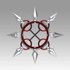 1.jpg Download OBJ file Kingdom Hearts Organization XII Number VIII Lea Axel Cosplay Weapon Prop • 3D printing design, Blackeveryday