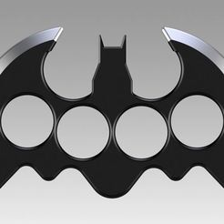 3D print files Brass knuckles batman, Blackeveryday