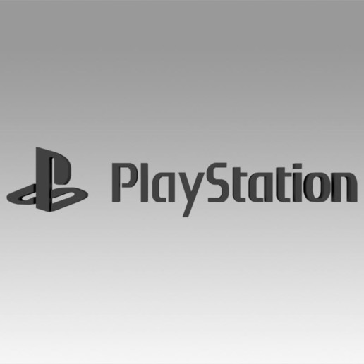 Download 3D model Playstation Video game logo, Blackeveryday