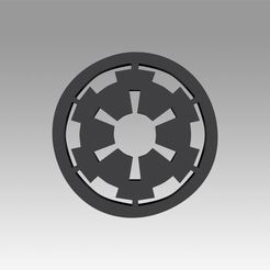 1.jpg Download OBJ file Galactic Empire symbol logo • 3D printable template, Blackeveryday