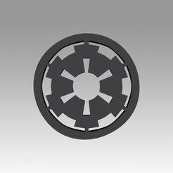 1.jpg Télécharger fichier OBJ Logo du symbole de l'Empire Galactique • Modèle à imprimer en 3D, Blackeveryday