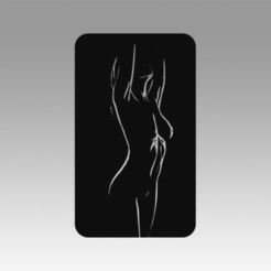 3D printer models Girl logo, Blackeveryday