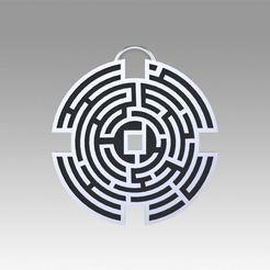 1.jpg Download OBJ file Prisoners Maze pendant movie prop replica • 3D printing object, Blackeveryday