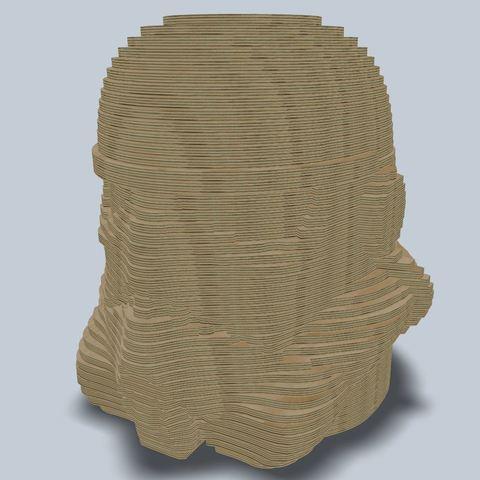 3D printer models Stormtrooper layer laser lasercut, Blackeveryday