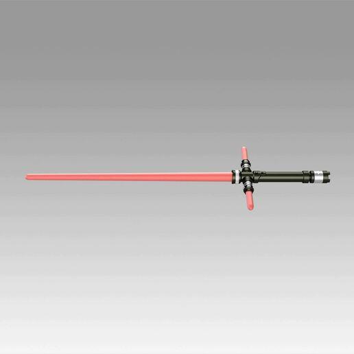 7.jpg Download OBJ file Star Wars VII The Force Awakens Kylo Ren Sword Cosplay Prop • 3D printer object, Blackeveryday