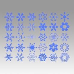 STL file Snowflakes collection, Blackeveryday