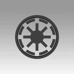 Download OBJ file Galactic Republic Galactic Empire symbol logo • 3D printer template, Blackeveryday