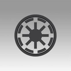 1.jpg Download OBJ file Galactic Republic Galactic Empire symbol logo • 3D printer template, Blackeveryday