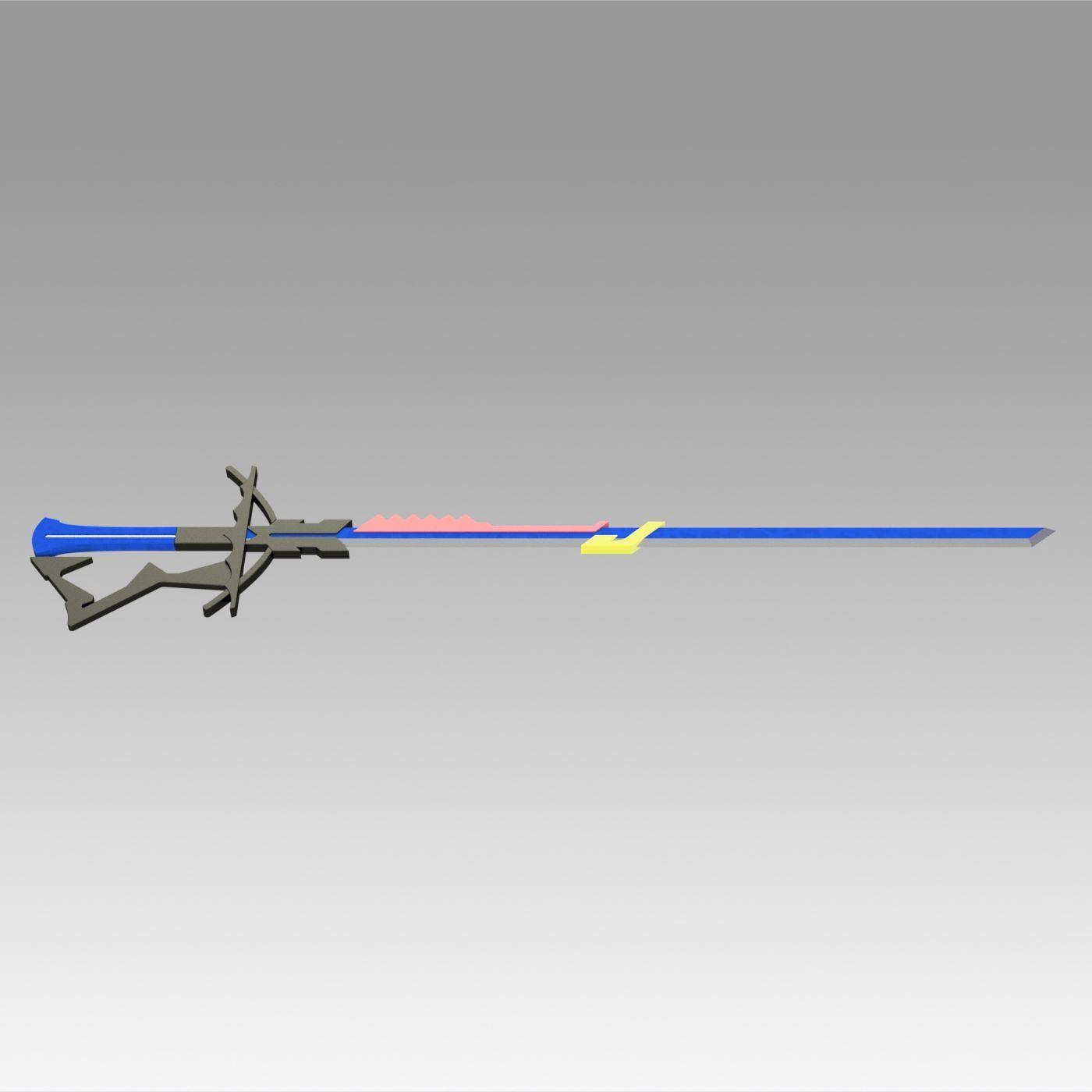 3.jpg Download OBJ file Arknights Astesia Epoque Sword Cosplay Weapon Prop  • 3D printable template, Blackeveryday