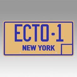 1.jpg Télécharger fichier OBJ Ghostbusters 2 ECTO-1 Réplique de plaque d'immatriculation d'hélice de New York • Plan pour impression 3D, Blackeveryday