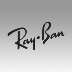 Download 3D printing templates Ray ban logo, Blackeveryday