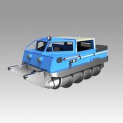 Télécharger plan imprimante 3D Véhicule tout-terrain à vis ZIL-2906, Blackeveryday