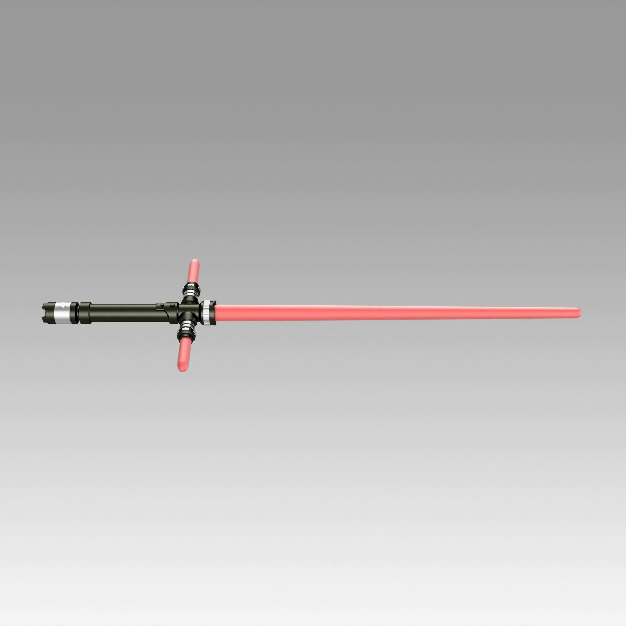 3.jpg Download OBJ file Star Wars VII The Force Awakens Kylo Ren Sword Cosplay Prop • 3D printer object, Blackeveryday