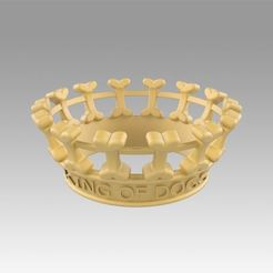 Impresiones 3D Corona para los perros, rey de los perros, Blackeveryday