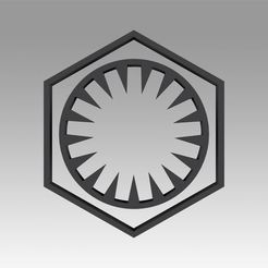 Download OBJ file First Order Galactic Empire symbol logo • 3D print design, Blackeveryday