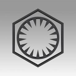 1.jpg Télécharger fichier OBJ Logo du symbole de l'Empire galactique du premier ordre • Objet pour impression 3D, Blackeveryday