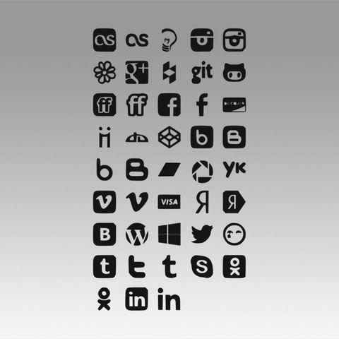 Social icons logo