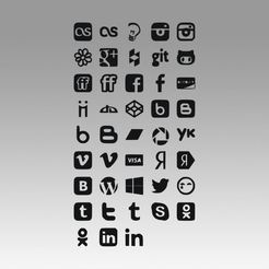 1.jpg Download OBJ file Social icons logo  • 3D printing template, Blackeveryday