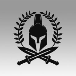 Download 3D printer files Spartan logo, Blackeveryday