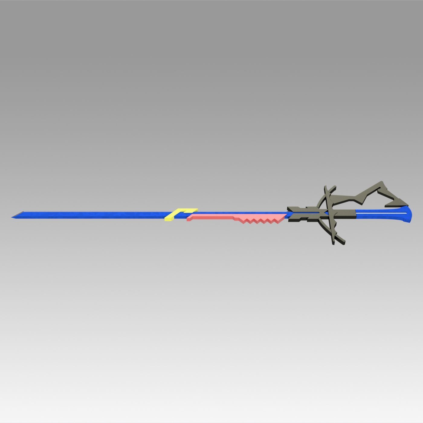 7.jpg Download OBJ file Arknights Astesia Epoque Sword Cosplay Weapon Prop  • 3D printable template, Blackeveryday