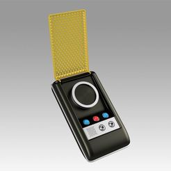 Download 3D printer templates Star Trek Light and Sound Communicator Set Cosplay prop, Blackeveryday