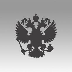 Download 3D printer files Russian coat of arms, Blackeveryday