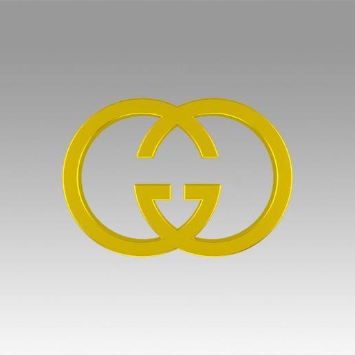 Descargar diseños 3D Logotipo de Gucci, Blackeveryday