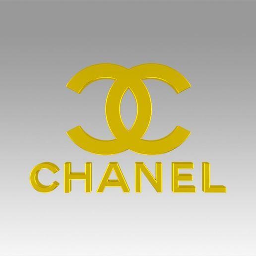 Download 3D printer model Chanel logo, Blackeveryday