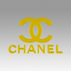 Impresiones 3D Logotipo de Chanel, Blackeveryday