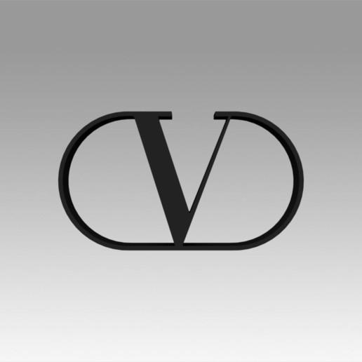 Télécharger fichier imprimante 3D Logo Valentino, Blackeveryday