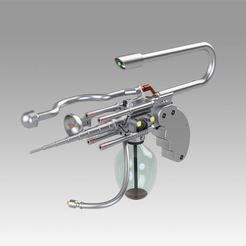 Impresiones 3D Carbonizador reverberante con capacidad de mutación - Arma MIB, Blackeveryday