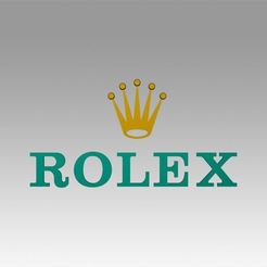 Imprimir en 3D Logotipo de Rolex, Blackeveryday