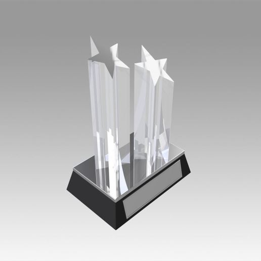 Download 3D printer designs Award figurine Two Star silver, Blackeveryday