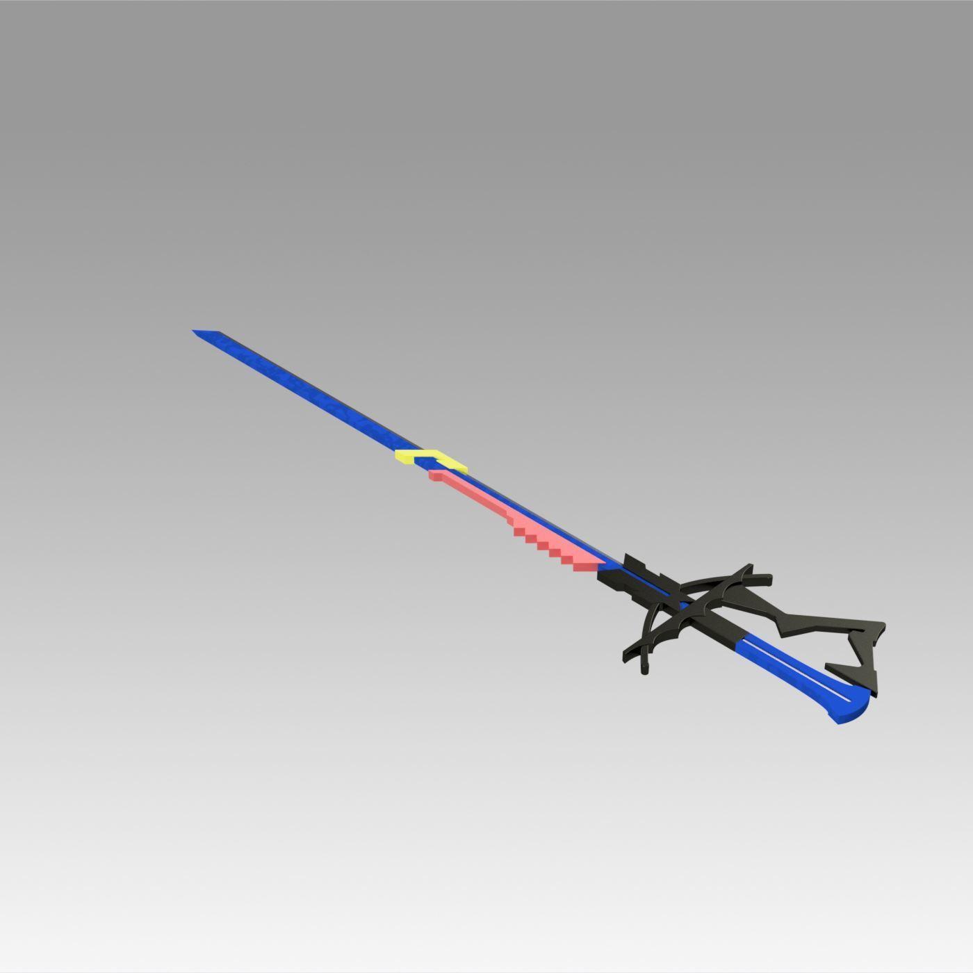 8.jpg Download OBJ file Arknights Astesia Epoque Sword Cosplay Weapon Prop  • 3D printable template, Blackeveryday