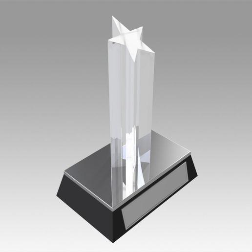 Download 3D printer designs Award figurine Star Silver, Blackeveryday