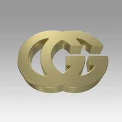 Download 3D printer files Gucci logo, Blackeveryday