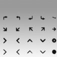 Impresiones 3D Signo de flechas, Blackeveryday