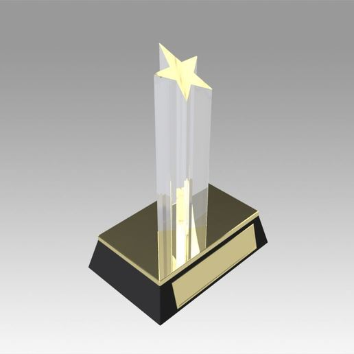 Download 3D printing files Award figurine Star gold, Blackeveryday