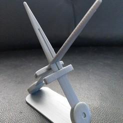 Télécharger plan imprimante 3D porte-épée, jasperbaudoin