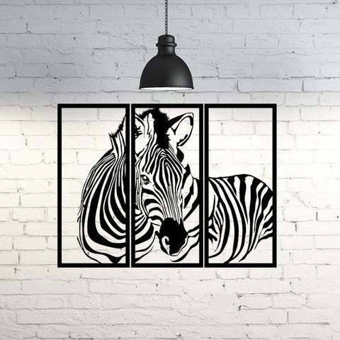 3D printer files Zebra Frame Wall Sculpture 2D, UnpredictableLab