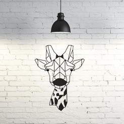 Free STL files Giraffe Wall Sculpture 2D II, UnpredictableLab