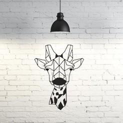 Archivos 3D gratis Giraffe Wall Sculpture 2D II, UnpredictableLab