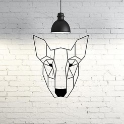 Descargar archivo 3D Bull Terrier Dog Wall Sculpture 2D, UnpredictableLab