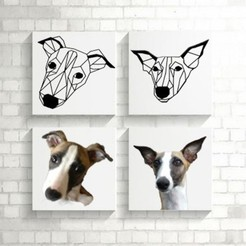 Download free 3D printer templates Bowie I Greyhound Dog Wall Sculpture 2D, UnpredictableLab