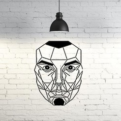 Free 3D printer files Face wall Sculpture 2D, UnpredictableLab