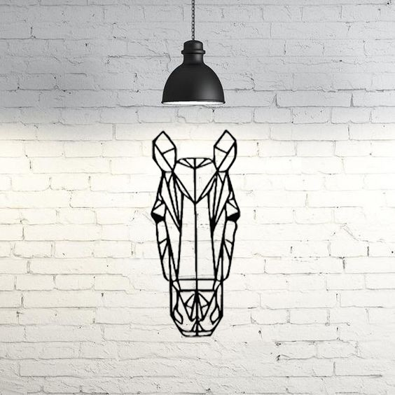 30.Horse.jpg Download STL file Horse Wall Sculpture 2D • Template to 3D print, UnpredictableLab