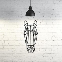 3D print files Horse Wall Sculpture 2D, UnpredictableLab