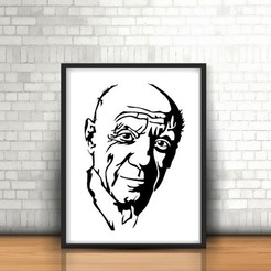 Download 3D printer designs Picasso Wall Sculpture 2D, UnpredictableLab