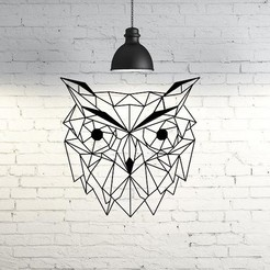 47.Owl2.jpg Download STL file Owl II Wall Sculpture 2D • 3D print design, UnpredictableLab