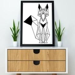 Imprimir en 3D Fox Wall Sculpture 2D, UnpredictableLab